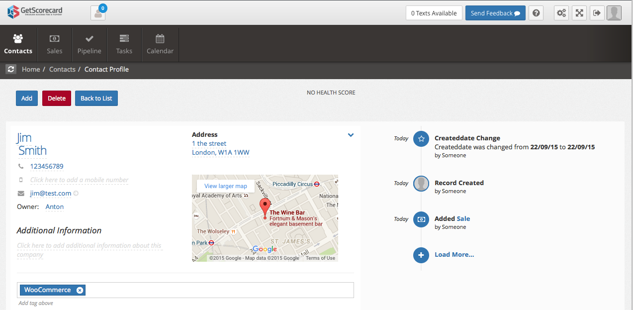 crm-for-woocommerce-by-getscorecard screenshot 2
