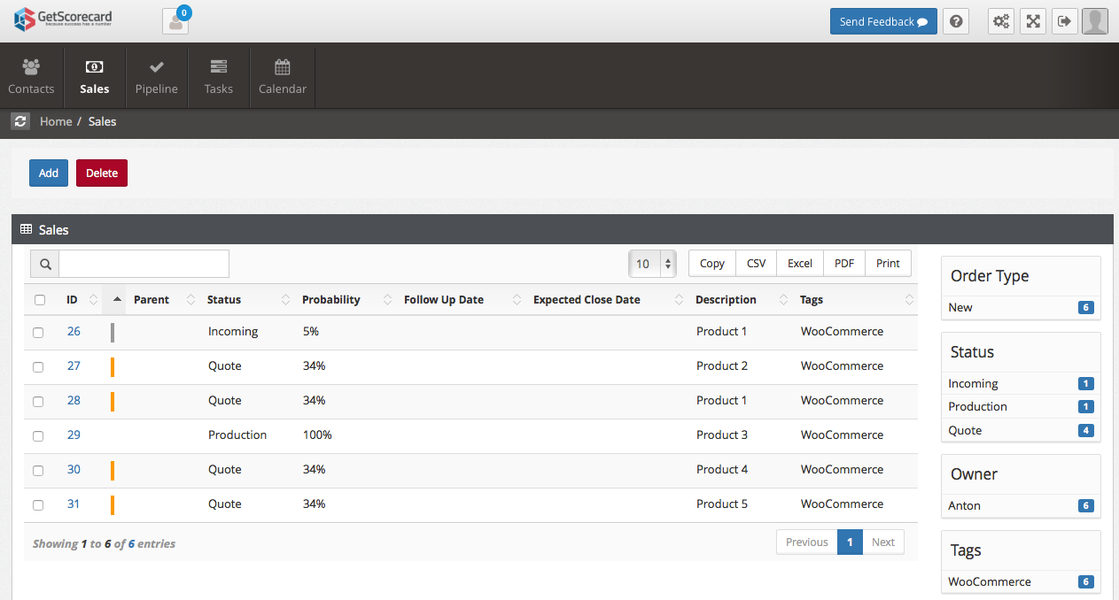 crm-for-woocommerce-by-getscorecard screenshot 3