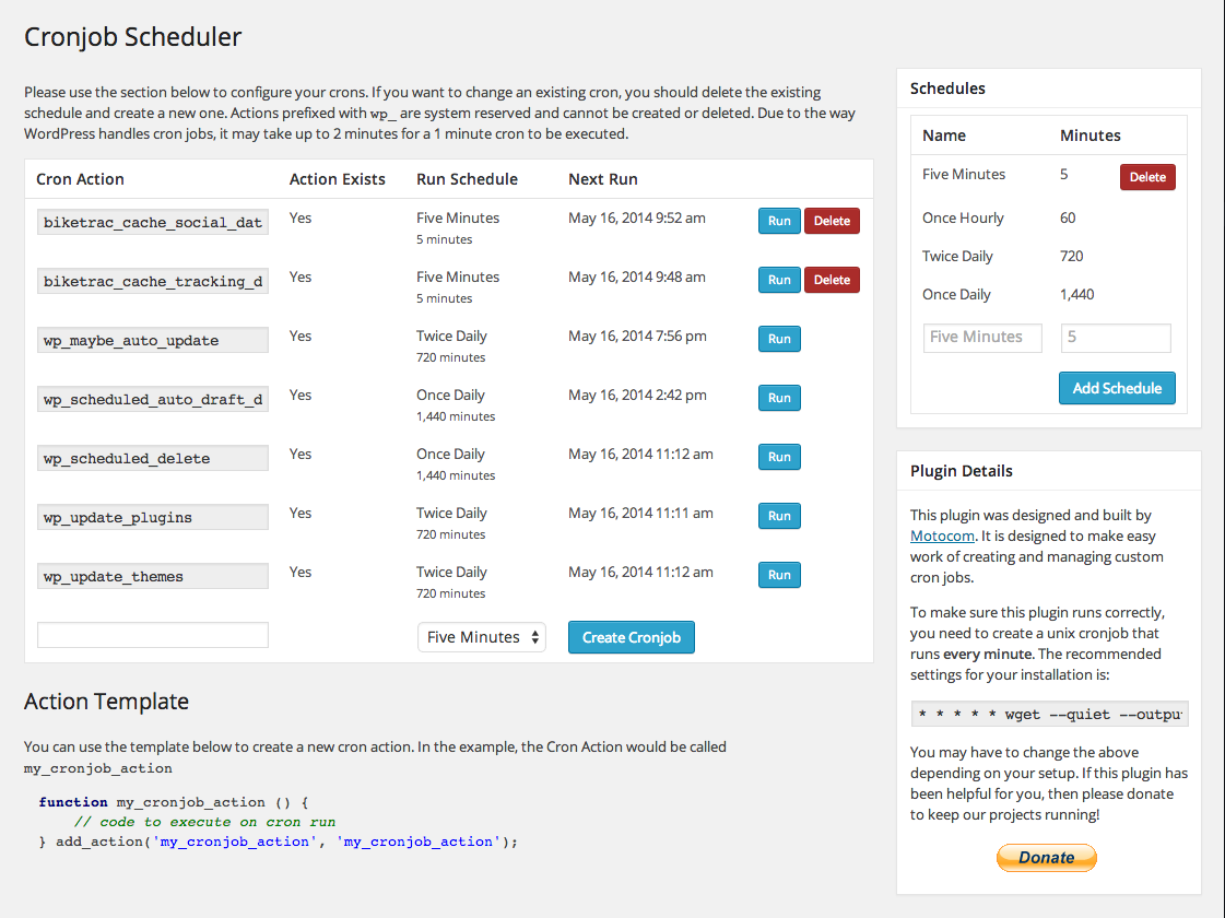 cronjob-scheduler screenshot 1