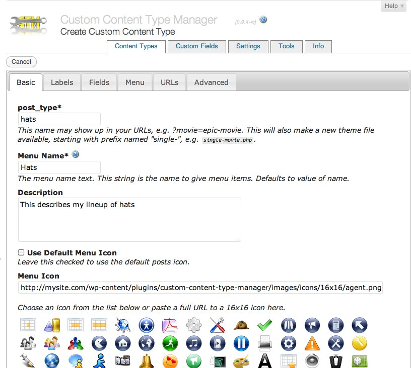 custom-content-type-manager screenshot 3