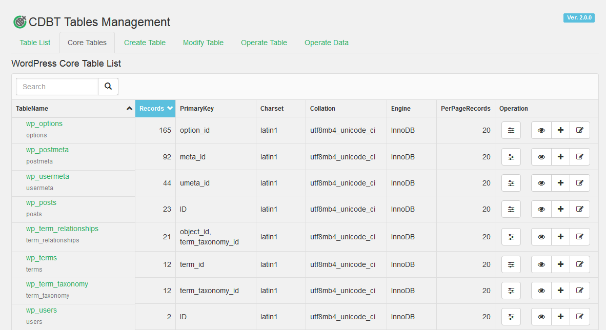 custom-database-tables screenshot 4