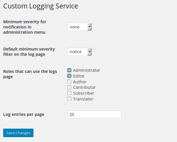 custom-logging-service screenshot 1