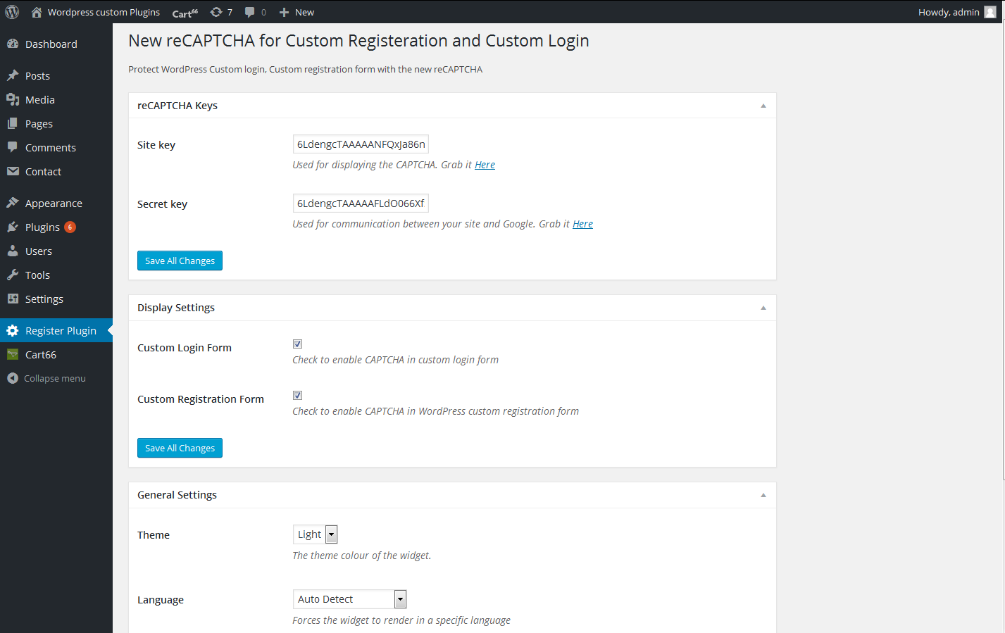 custom-registration-and-login-forms-with-new-recaptcha screenshot 1