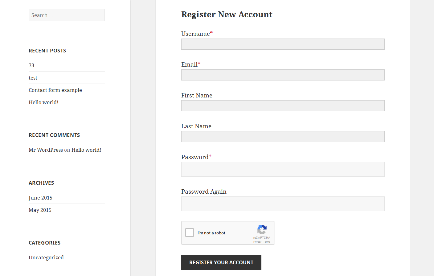 custom-registration-and-login-forms-with-new-recaptcha screenshot 3