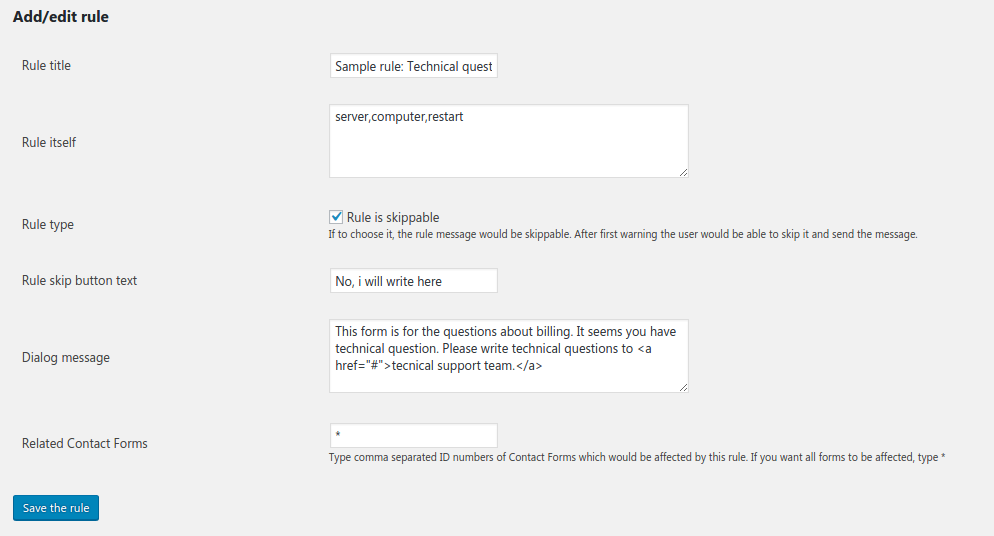 custom-rules-for-contact-form-7 screenshot 2