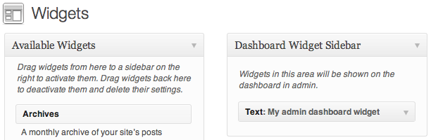 dashboard-widget-sidebar screenshot 1