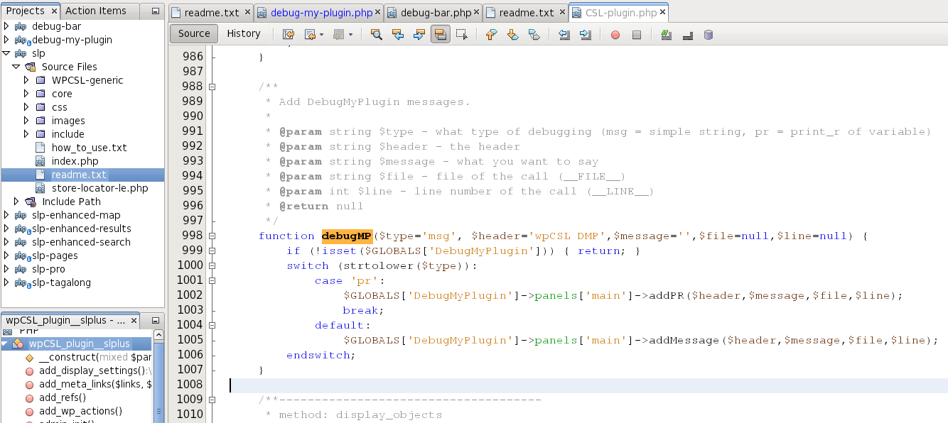 debug-my-plugin screenshot 1