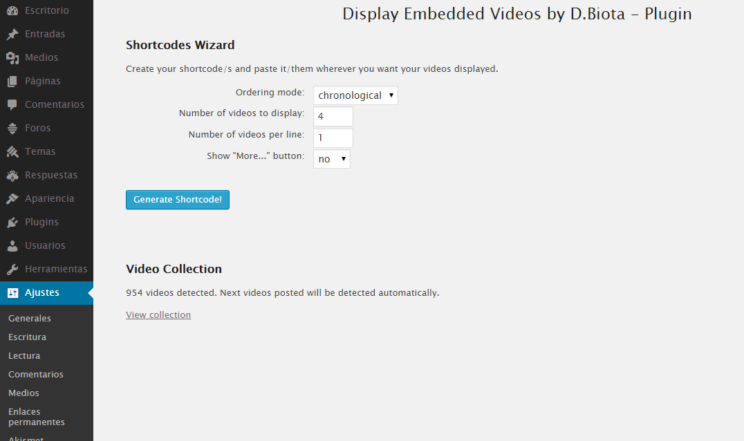 display-embedded-videos-by-dbiota screenshot 3
