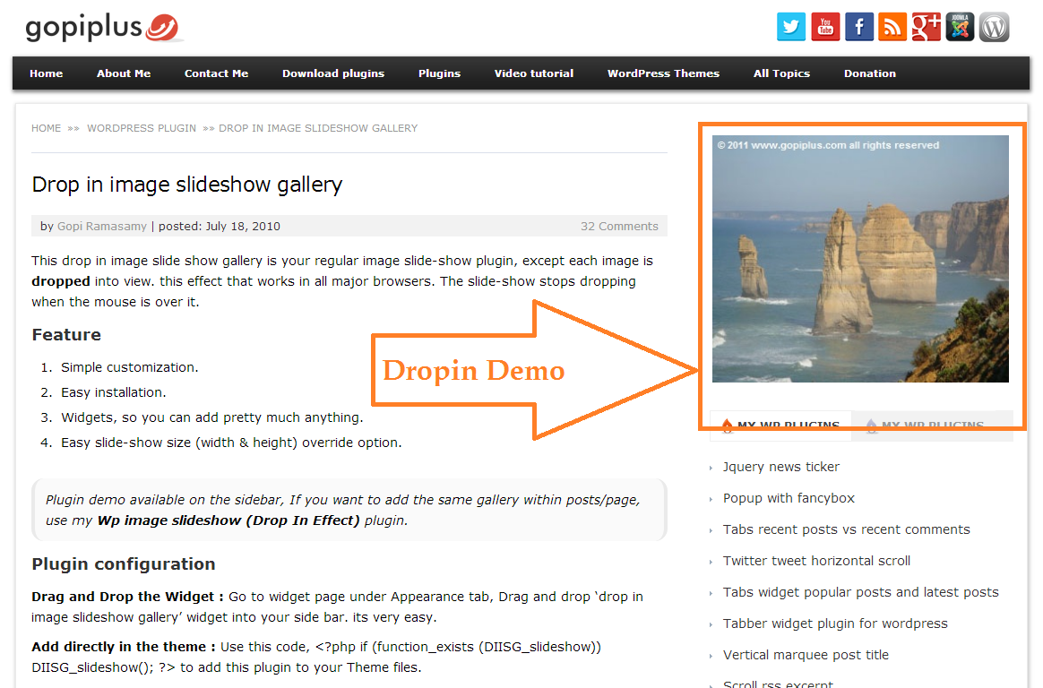 drop-in-image-slideshow-gallery screenshot 2