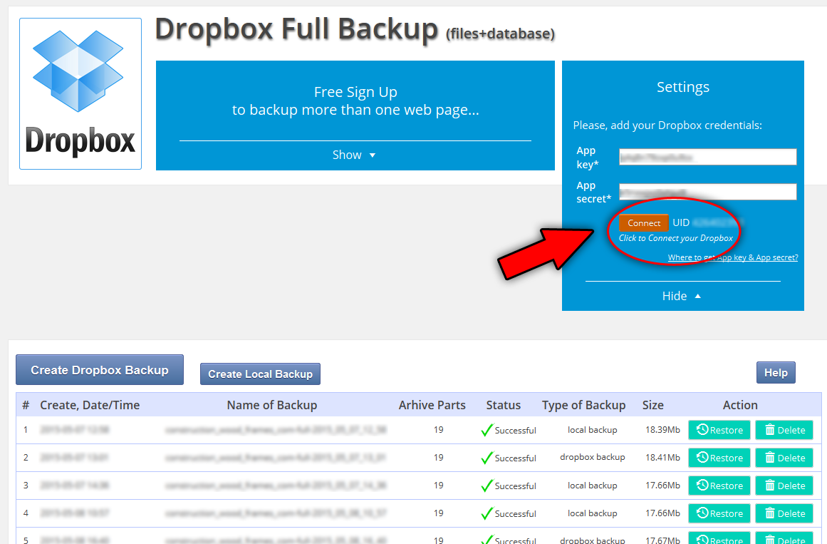 dropbox-backup screenshot 5