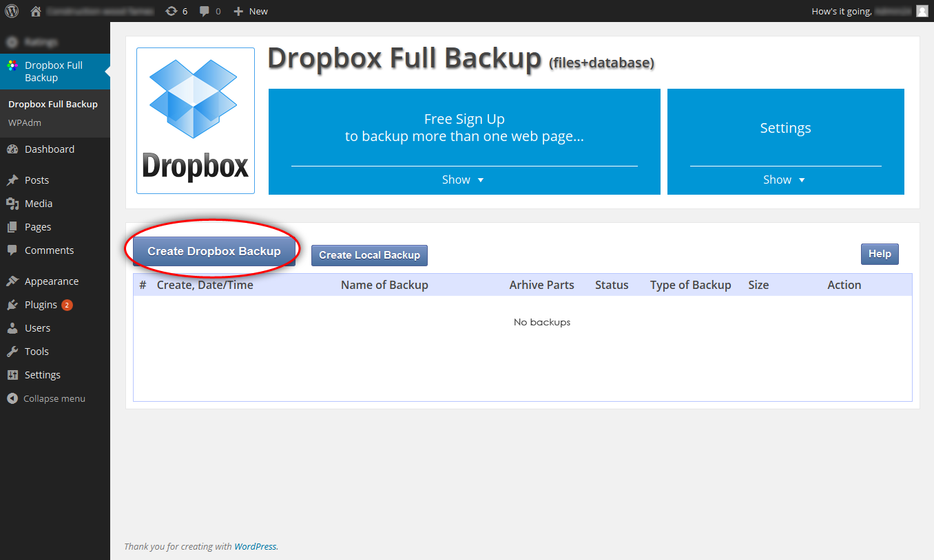 dropbox-backup screenshot 6