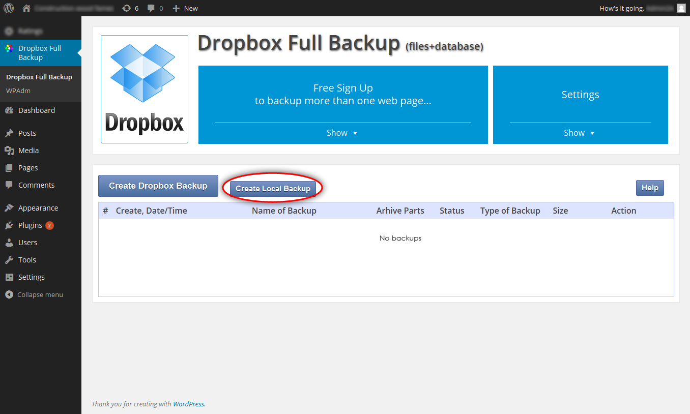 dropbox-backup screenshot 7