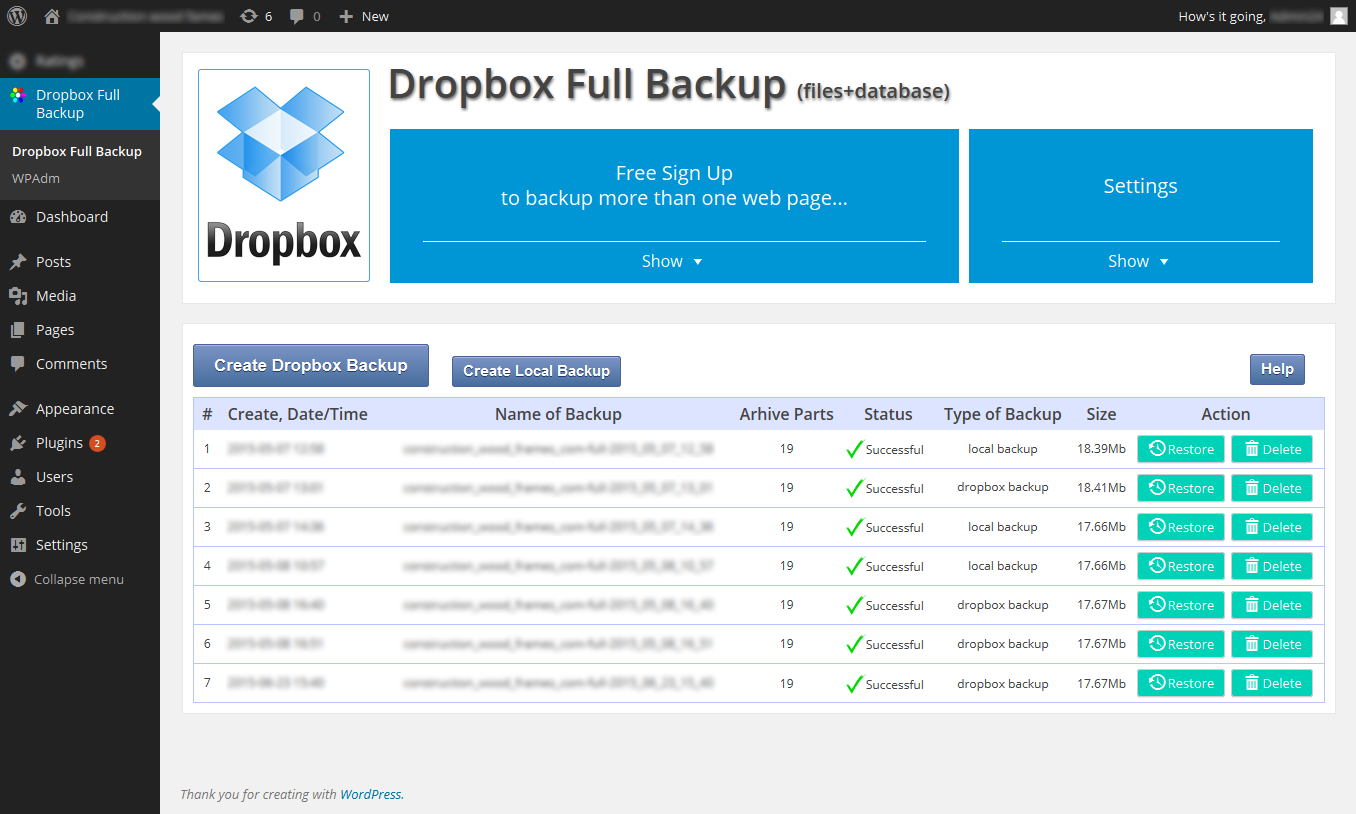 dropbox-backup screenshot 8