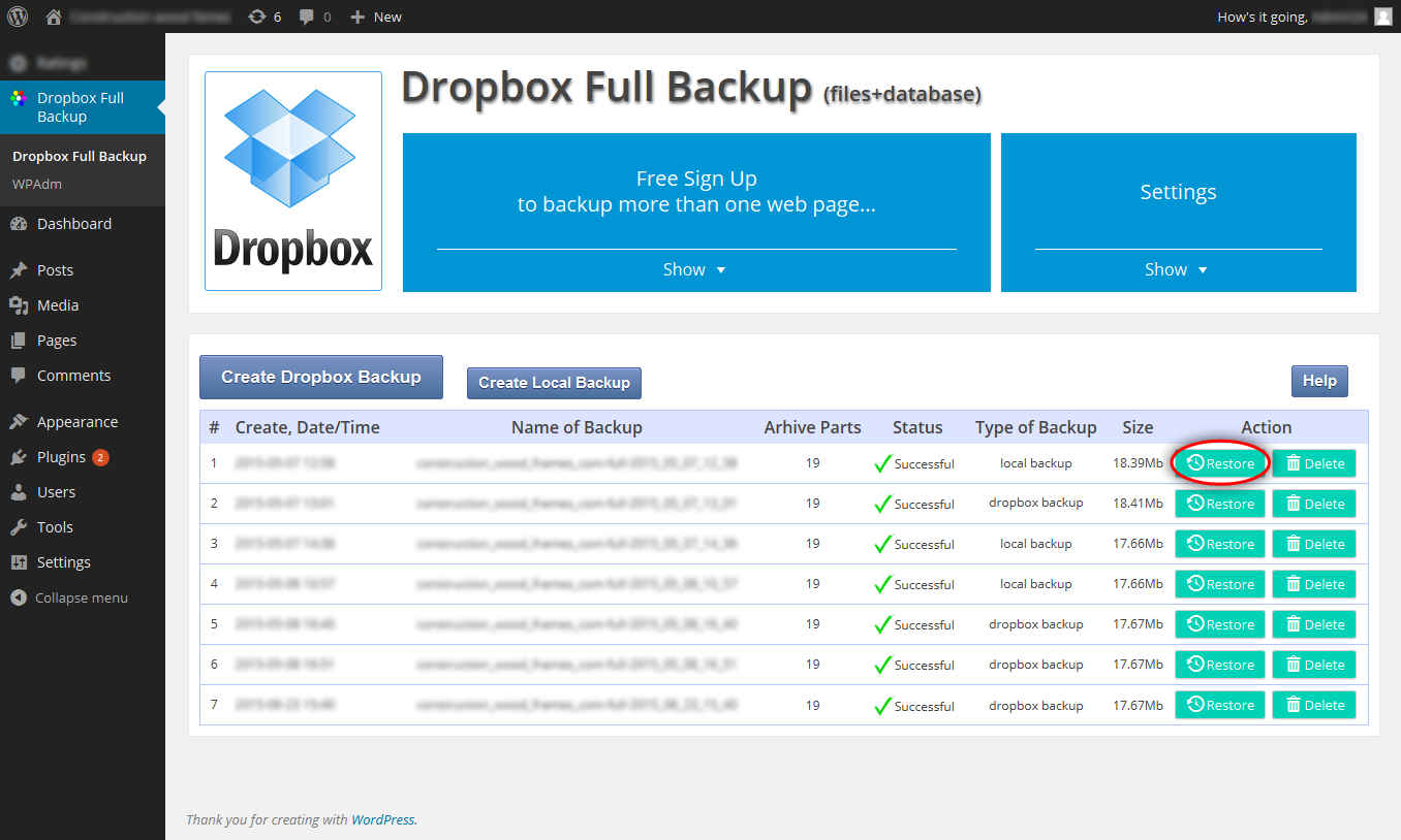 dropbox-backup screenshot 9