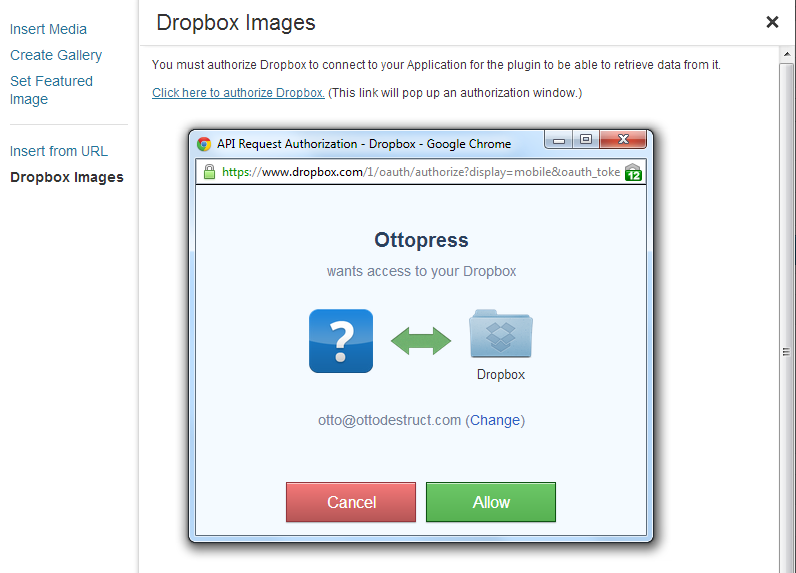 dropbox-photo-sideloader screenshot 1