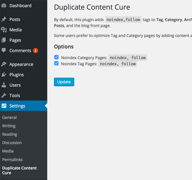 duplicate-content-cure screenshot 1