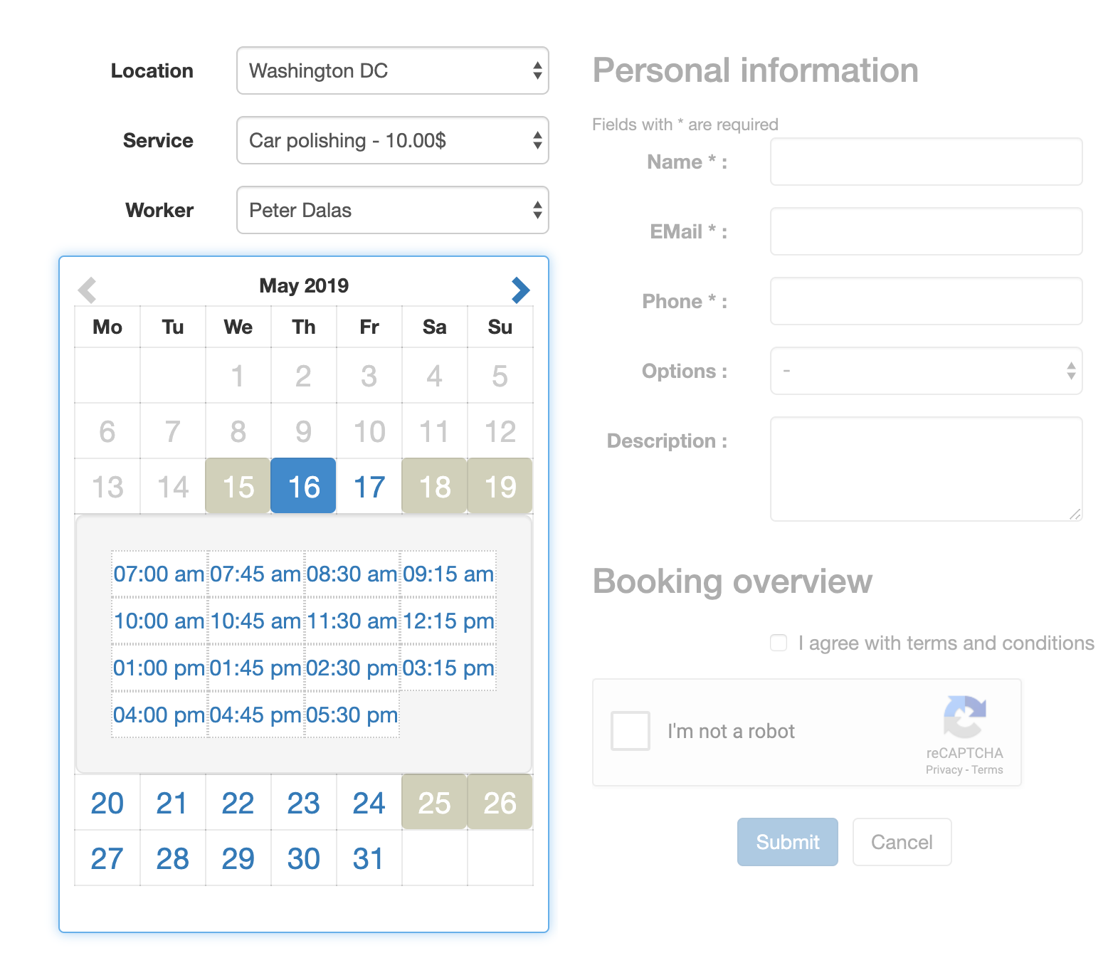 easy-appointments screenshot 3