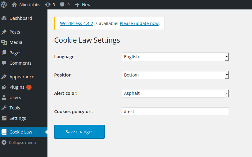 easy-eu-cookie-law screenshot 2