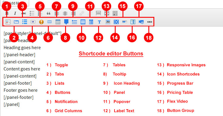 easy-foundation-shortcodes screenshot 1
