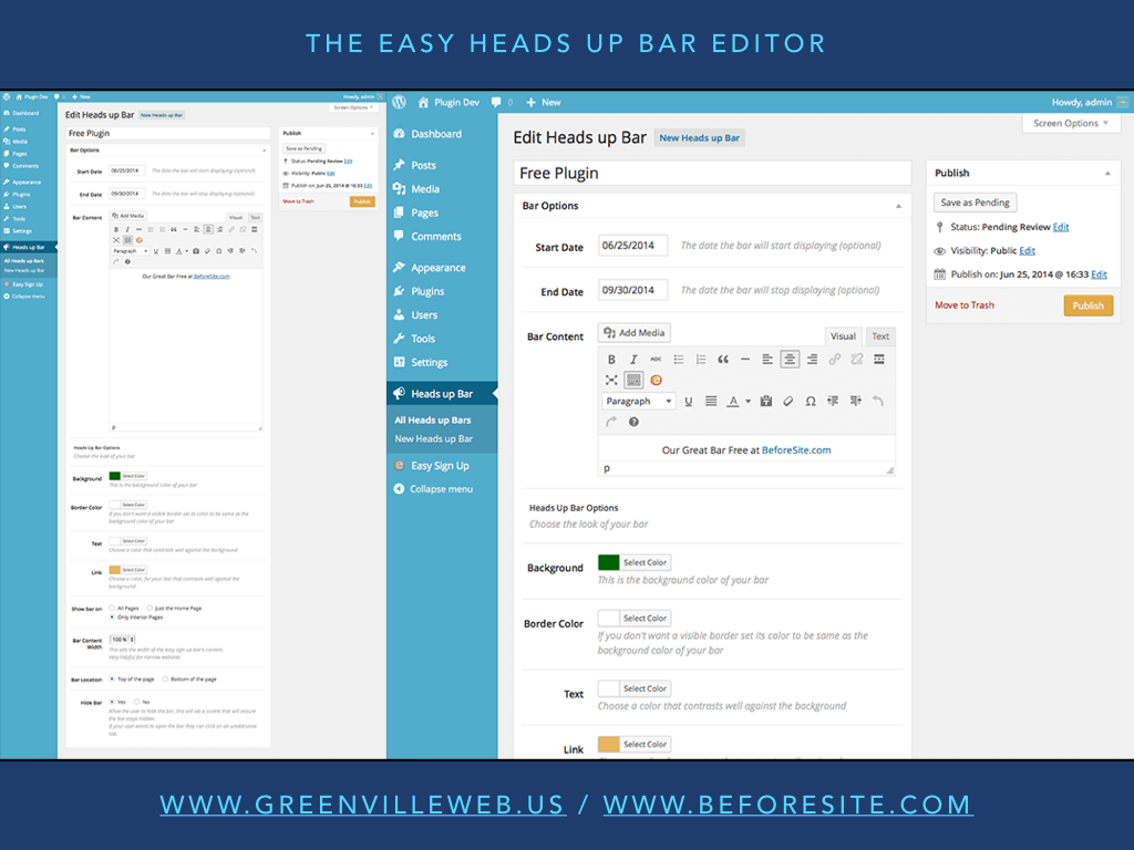 easy-heads-up-bar screenshot 2