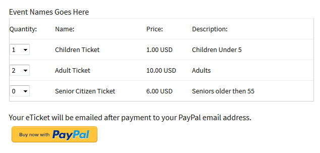 easy-paypal-events-tickets screenshot 1