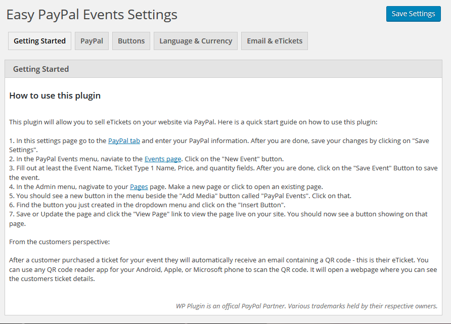 easy-paypal-events-tickets screenshot 2