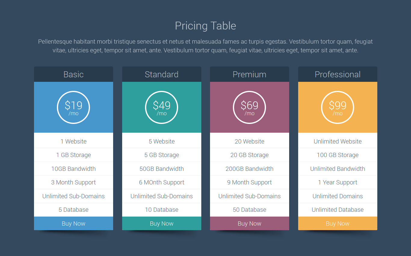 easy-pricing-table-manager screenshot 1