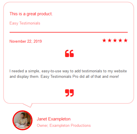 easy-testimonials screenshot 4