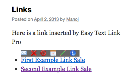 easy-text-links screenshot 1