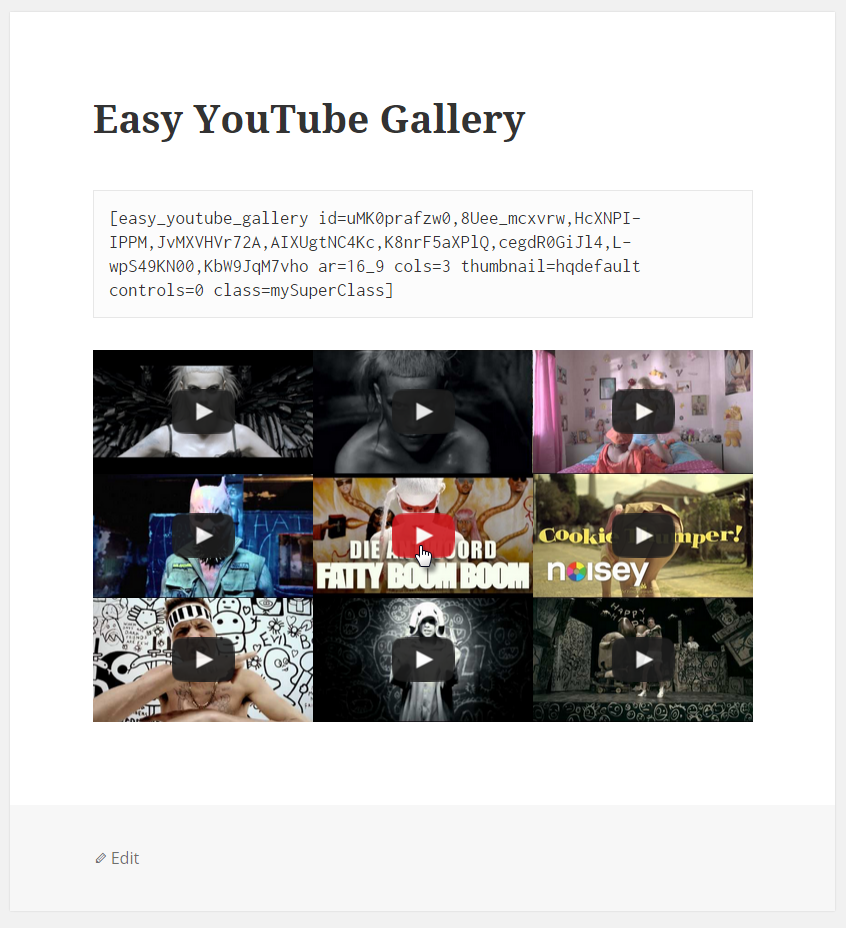 easy-youtube-gallery screenshot 1