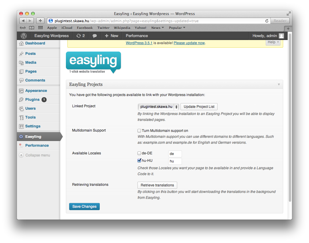 easyling-for-wp screenshot 1