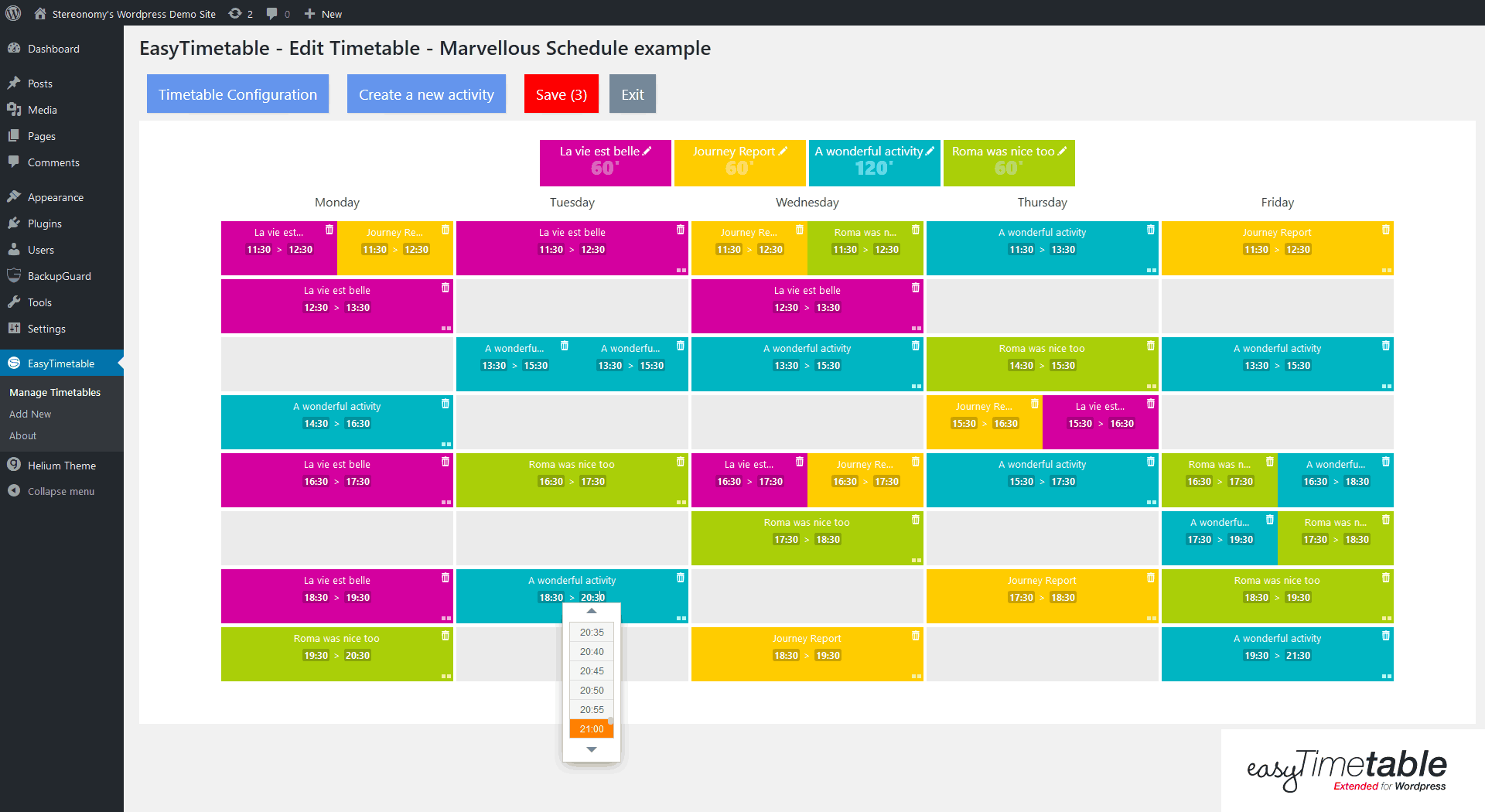 easytimetable-responsive-schedule-management-system screenshot 13