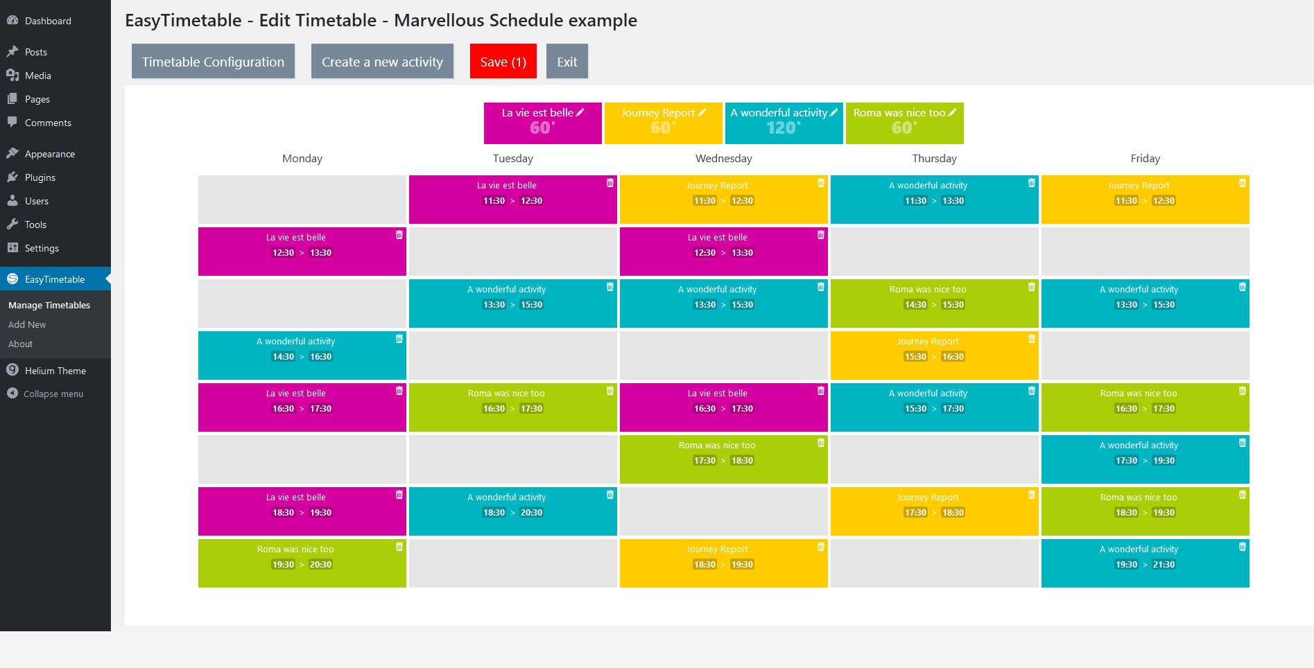 easytimetable-responsive-schedule-management-system screenshot 3