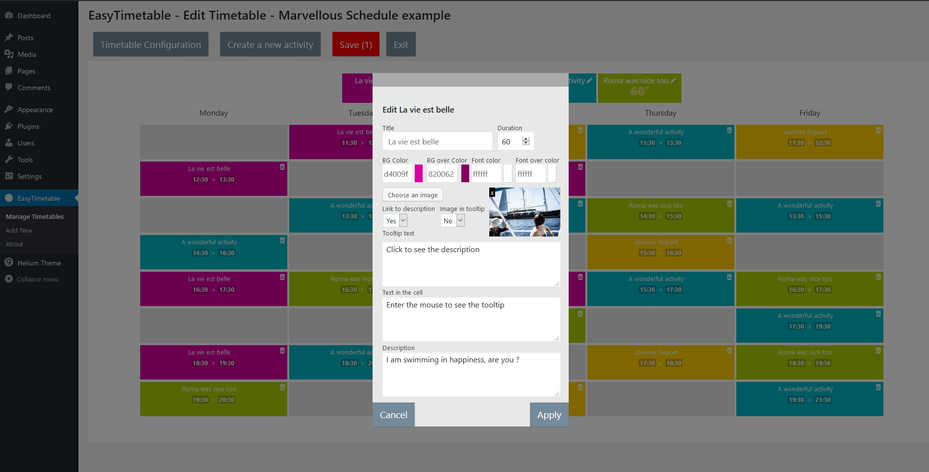 easytimetable-responsive-schedule-management-system screenshot 4