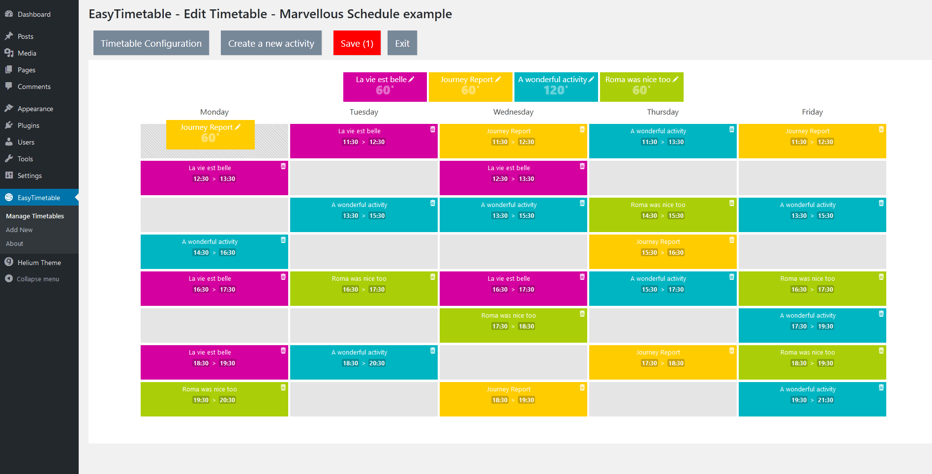 easytimetable-responsive-schedule-management-system screenshot 5