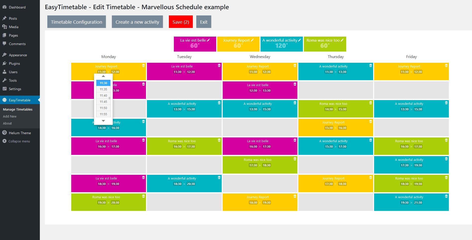 easytimetable-responsive-schedule-management-system screenshot 6