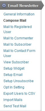 email-newsletter screenshot 1