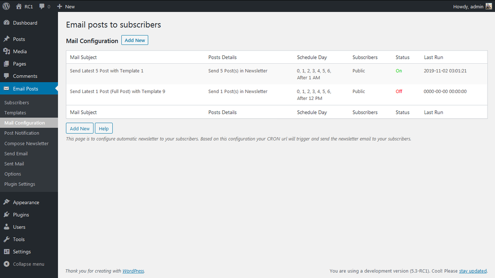 email-posts-to-subscribers screenshot 4