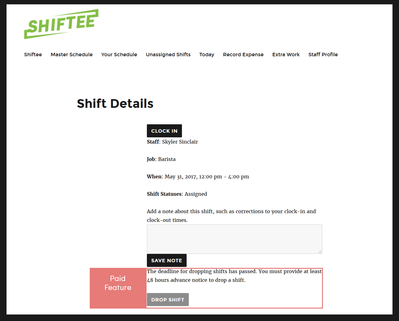 employee-scheduler screenshot 5
