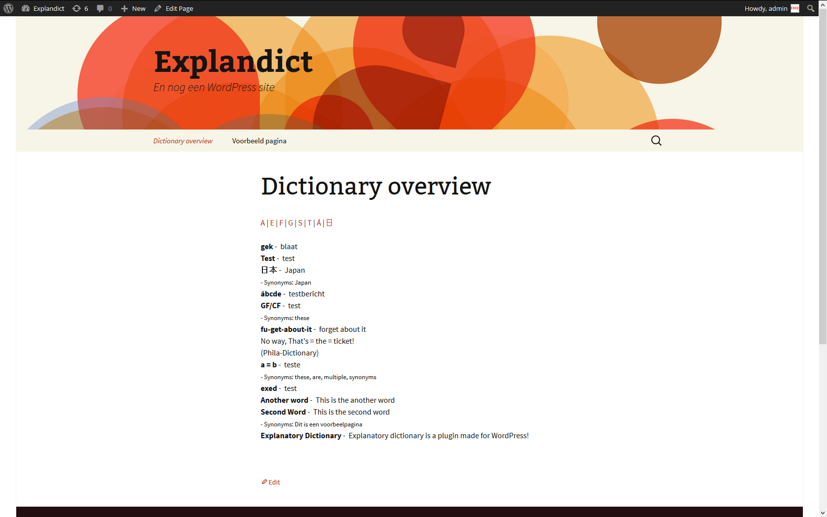 explanatory-dictionary screenshot 4