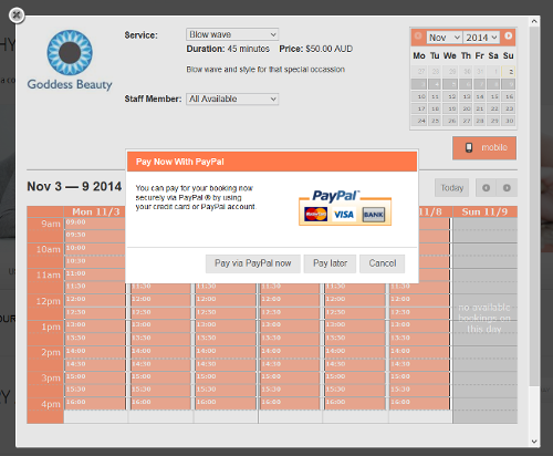 ezyonlinebookings-online-booking-system screenshot 3