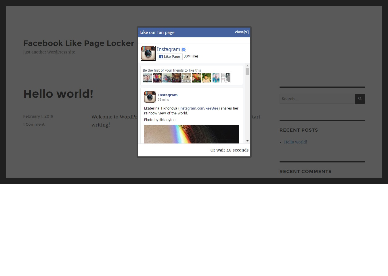 facebook-like-page-locker-lite screenshot 1