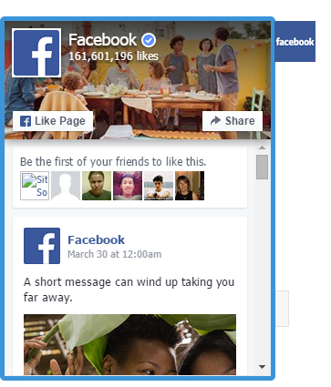 facebook-page-widget-slider screenshot 1
