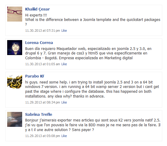 facebook-wall-and-social-integration screenshot 1