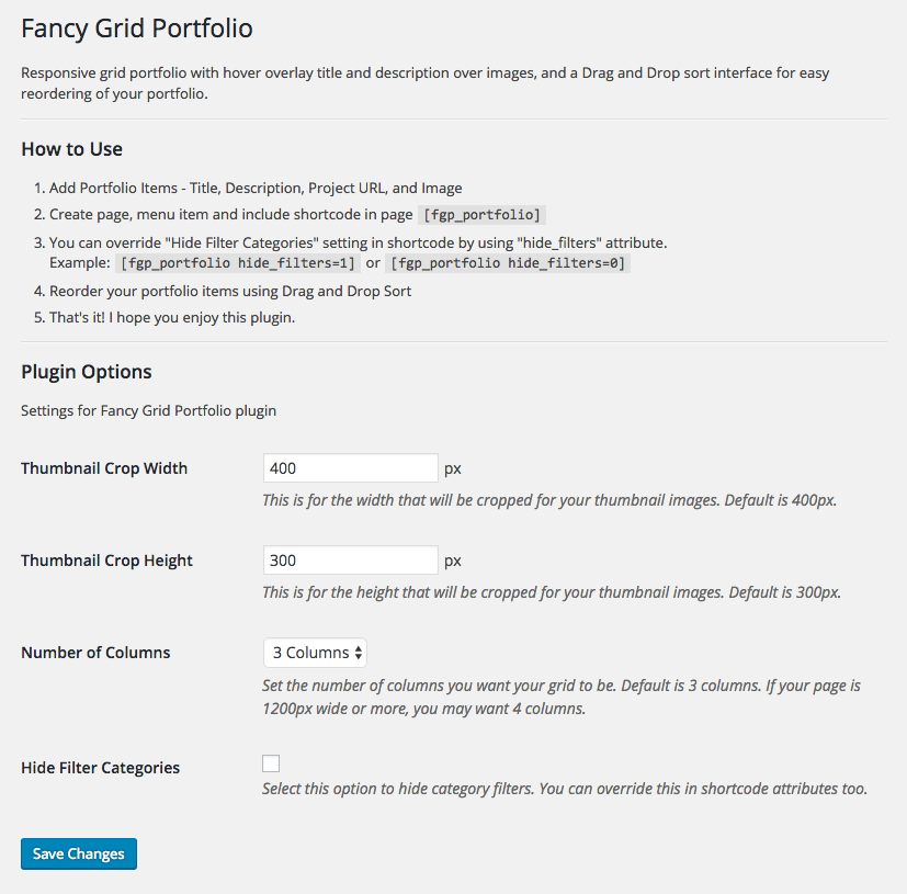fancy-grid-portfolio screenshot 3