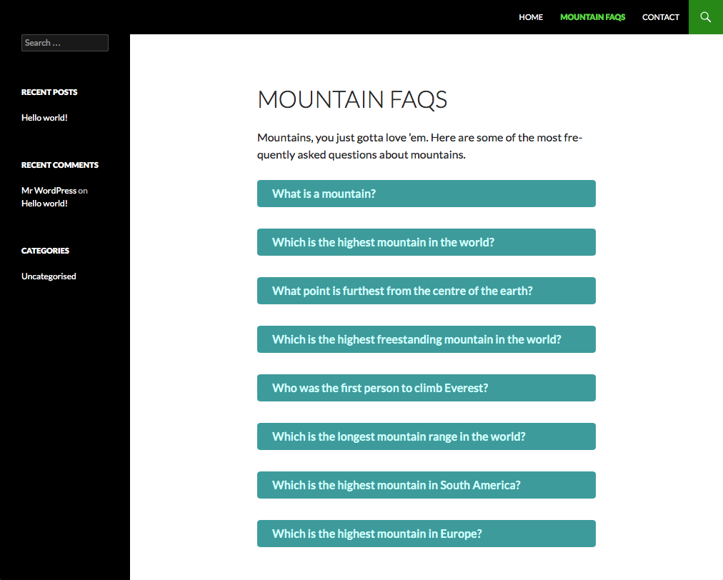 faq-concertina screenshot 1