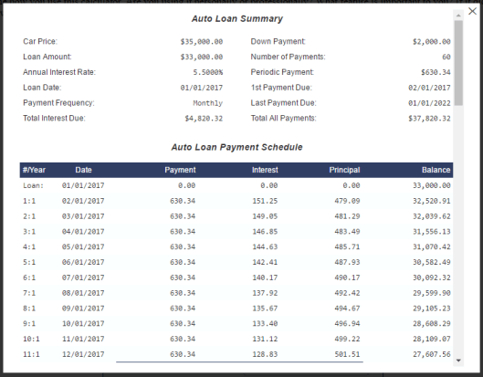 fc-auto-loan-calculator screenshot 2