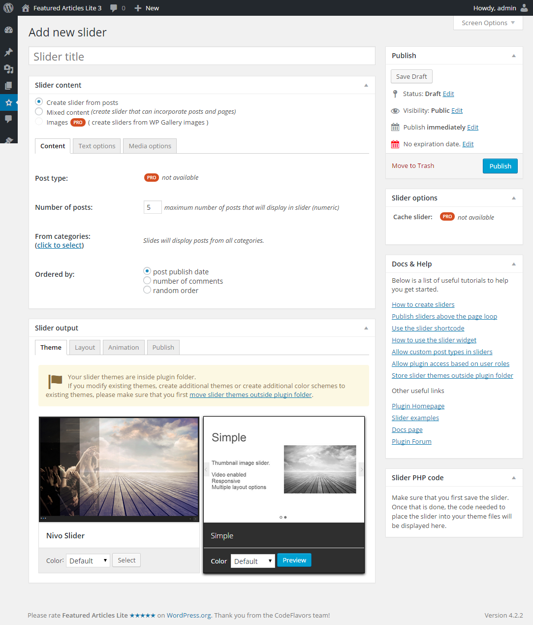 featured-articles-lite screenshot 4