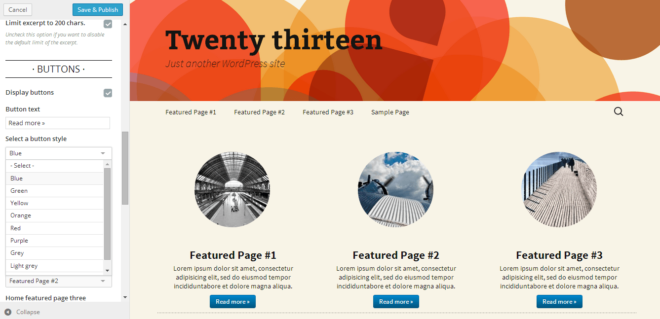 featured-pages-customizer screenshot 2