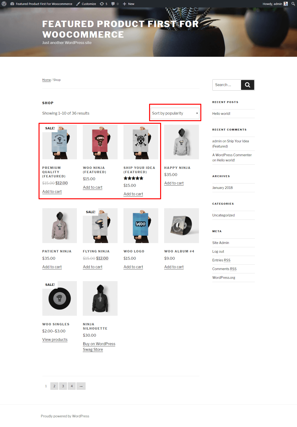 featured-products-first-for-woocommerce screenshot 2